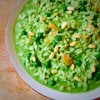 Green healthy risotto