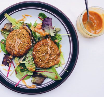 Courgette & Cauliflower Vegan Fritters